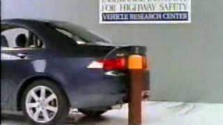 Crash Test  2004-2008 Acura TSX / Honda Accord (Rear Pole Test) IIHS