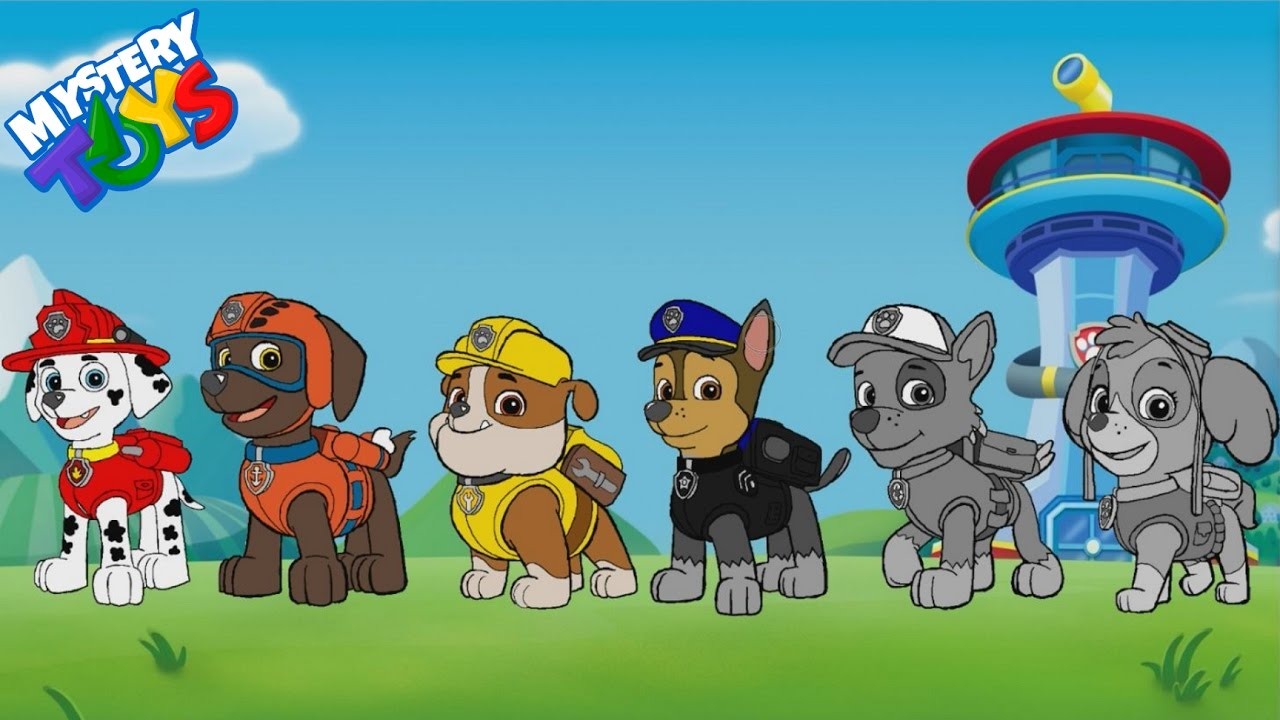 Paw Patrol Coloring Book Pages Chase Marshall Rubble Skye