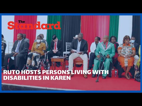 DP Ruto hosts persons living with disabilities in Karen, apologises to a section of them