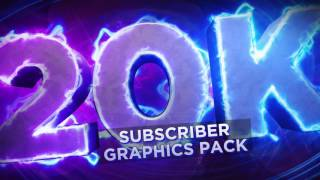 20,000 Subscribers Graphics Pack by Qehzy