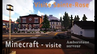 Minecraft - Visite de Sainte-Rose