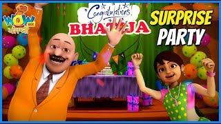 Chacha Bhatija in Punjabi  Surprise Party  Punjabi Cartoons for Kids  Wow Kidz Punjabi