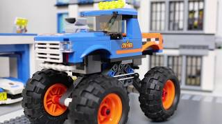 Build and play with Lego monstertruck