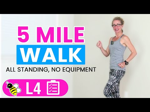 5 Mile WALK | One Hour+ (500 Calories) Indoor WALKING Workout