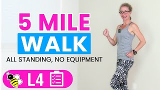 5 Mile WALK | One Hour+ (500 Calories) Indoor WALKING Workout