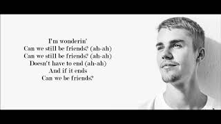 Justin Bieber - Friends (Lyrics)