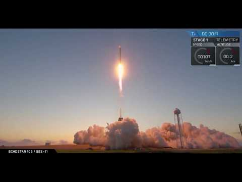 SpaceX Launches Echostar Satellite with Used Rocket