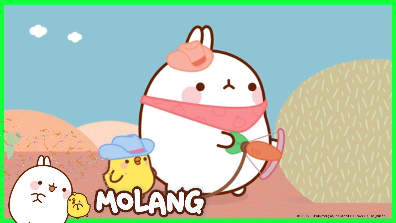 molang the cowboys cartoon for kids youtube