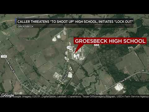 Caller threatening to shoot up Groesbeck High School initiates 'lock out'
