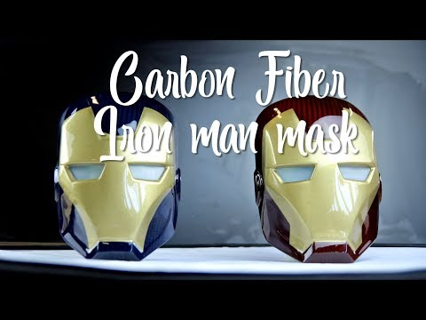 Carbon Fiber Iron Man Mask (How it's made)