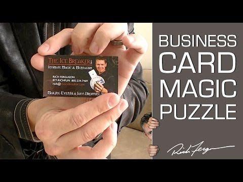 Awesome Business Card Trick