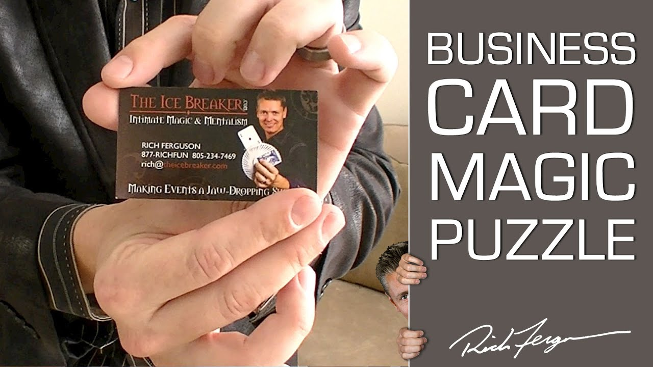 Awesome Business Card Trick - YouTube
