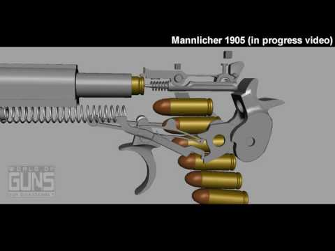 Mannlicher 1905 pistol (in progress video)