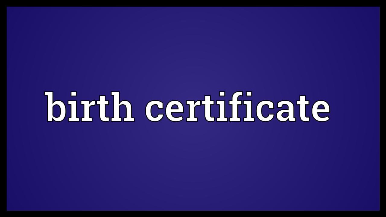 Birth certificate meaning youtube birth certificate meaning xflitez Gallery