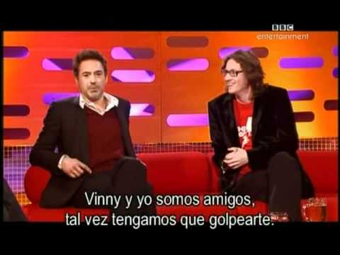 The Graham Norton Show (Robert Downey Jr, Ed Byrne and Will young)Part1-subtitulado