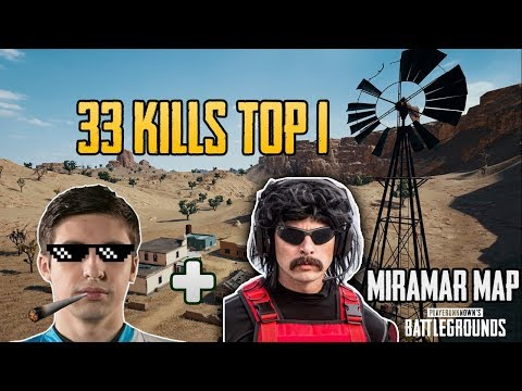 Shroud vs DrDisrespect 33 Kills Squad game FPP [TEST SERVER] - PUBG HIGHLIGHTS TOP 1