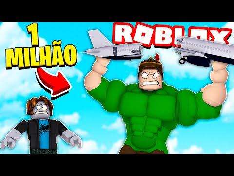 FIQUEI FORTE E QUEBREI TUDO NO SIMULADOR DE MUSCULAÇÃO DO ROBLOX!! (Smashing Simulator)