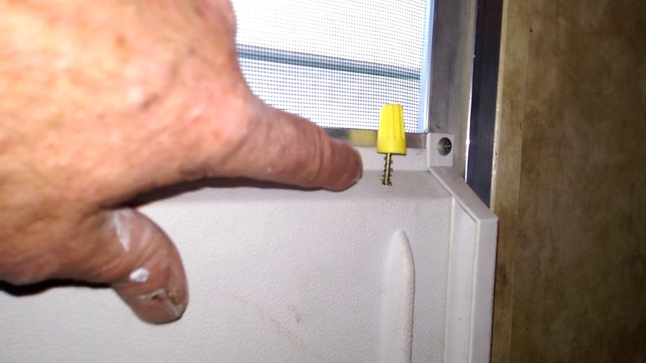 Screen Door Latch Release For Jayco Travel Trailer Youtube
