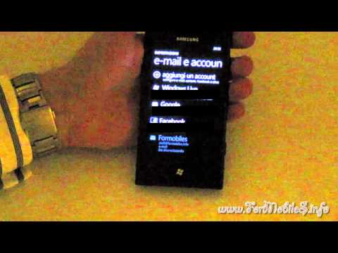 Samsung Omnia 7 - configurazione mail con dominio personale