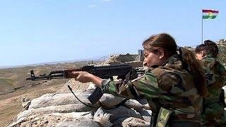 از نزدیک با زنان کردی که با داعش می جنگند
