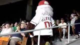 Screech Washington Nationals Mascot Dancing