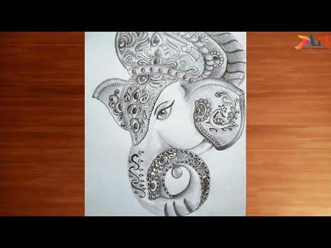 Ganesha Ganesh Chaturthi Special Ganapati Bappa Lord Ganesha Ganesh Thakur Drawing Pencil Sketch Youtube