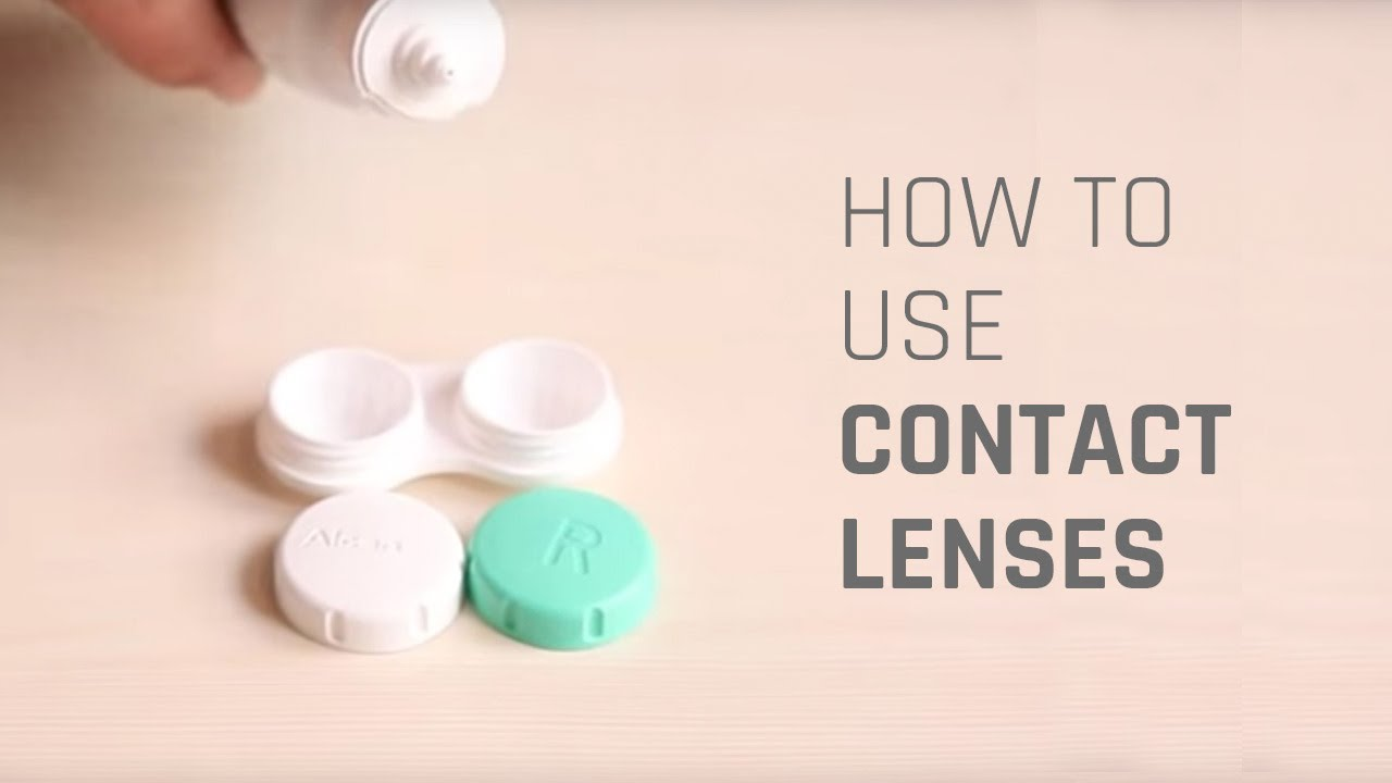 3bcbbd3f1b0 How to Wear Contact Lenses - YouTube