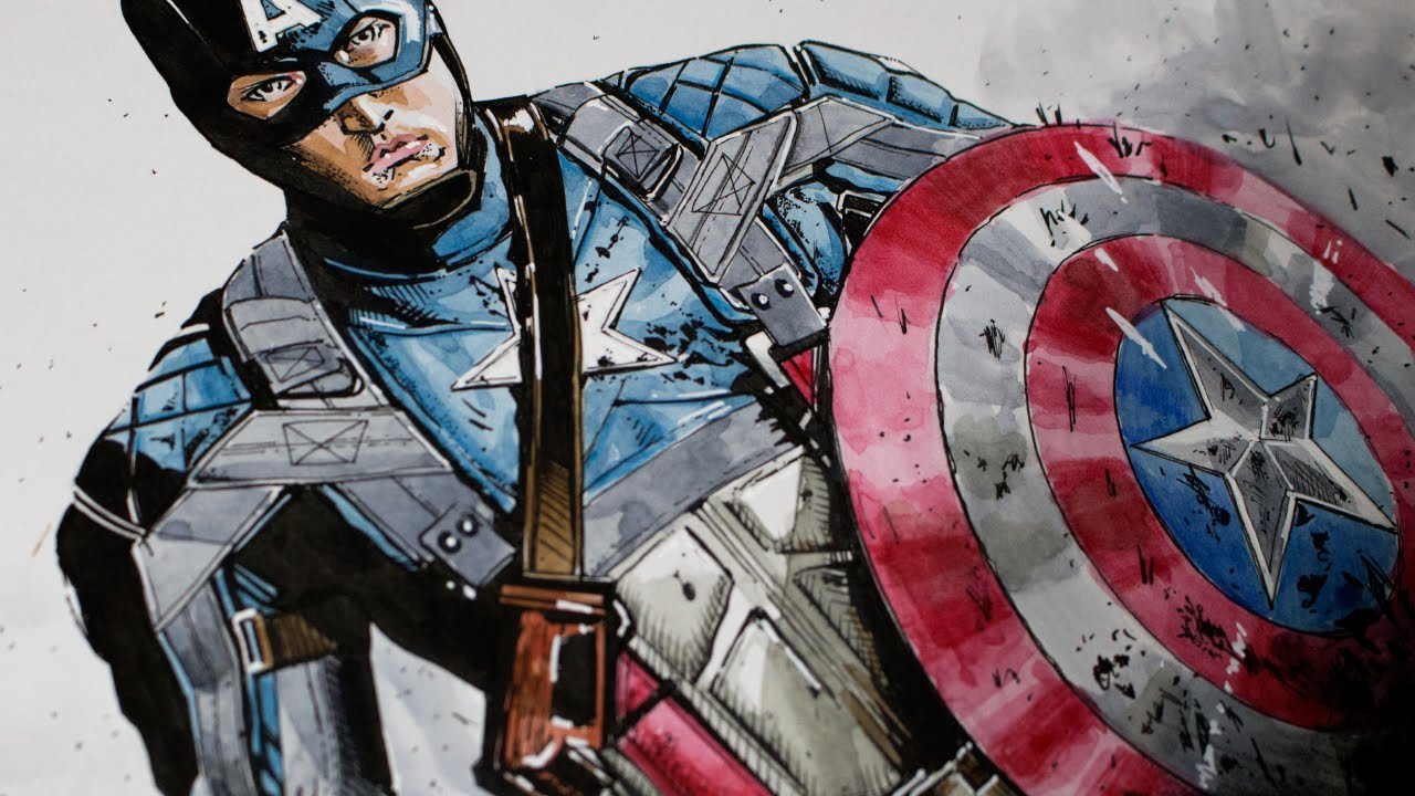 Drawing Captain America Civil War