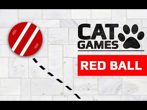 CAT GAMES - RED BALL (ENTERTAINMENT VIDEOS FOR CATS TO WATCH)