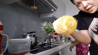 How to cut pineąpple without waste