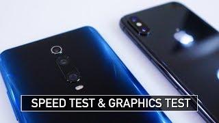 Redmi K20 (Mi 9T) vs iPhone X SPEED and GRAPHICS Test ML & PUBG | Zeibiz