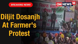 Singer Diljit Dosanjh Stands In Solidarity With Protesting Farmers At Singhu Border   CNN News18