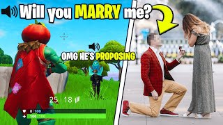 I Asked My Real GIRLFRIEND to MARRY Me During Fortnite Games