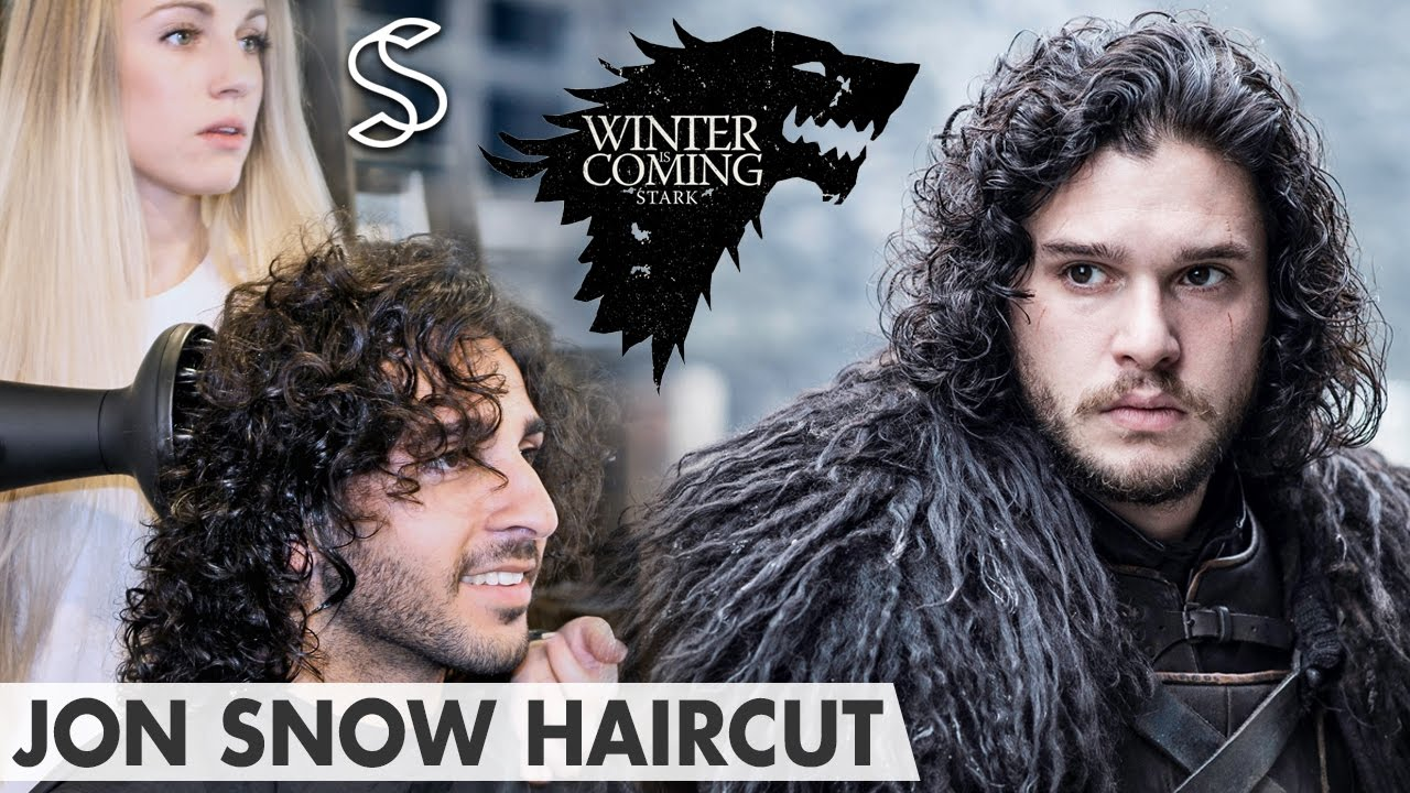 Jon Snow Hairstyle Game Of Thrones Kit Harington Curly Hair Men