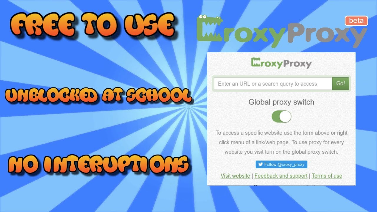 How To Unblock Every Website With CroxyProxy!! *AT SCHOOL*