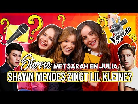 STERRE, SARAH EN JULIA RAPPEN ALS LIL KLEINE? GUESS WHO CHALLENGE!