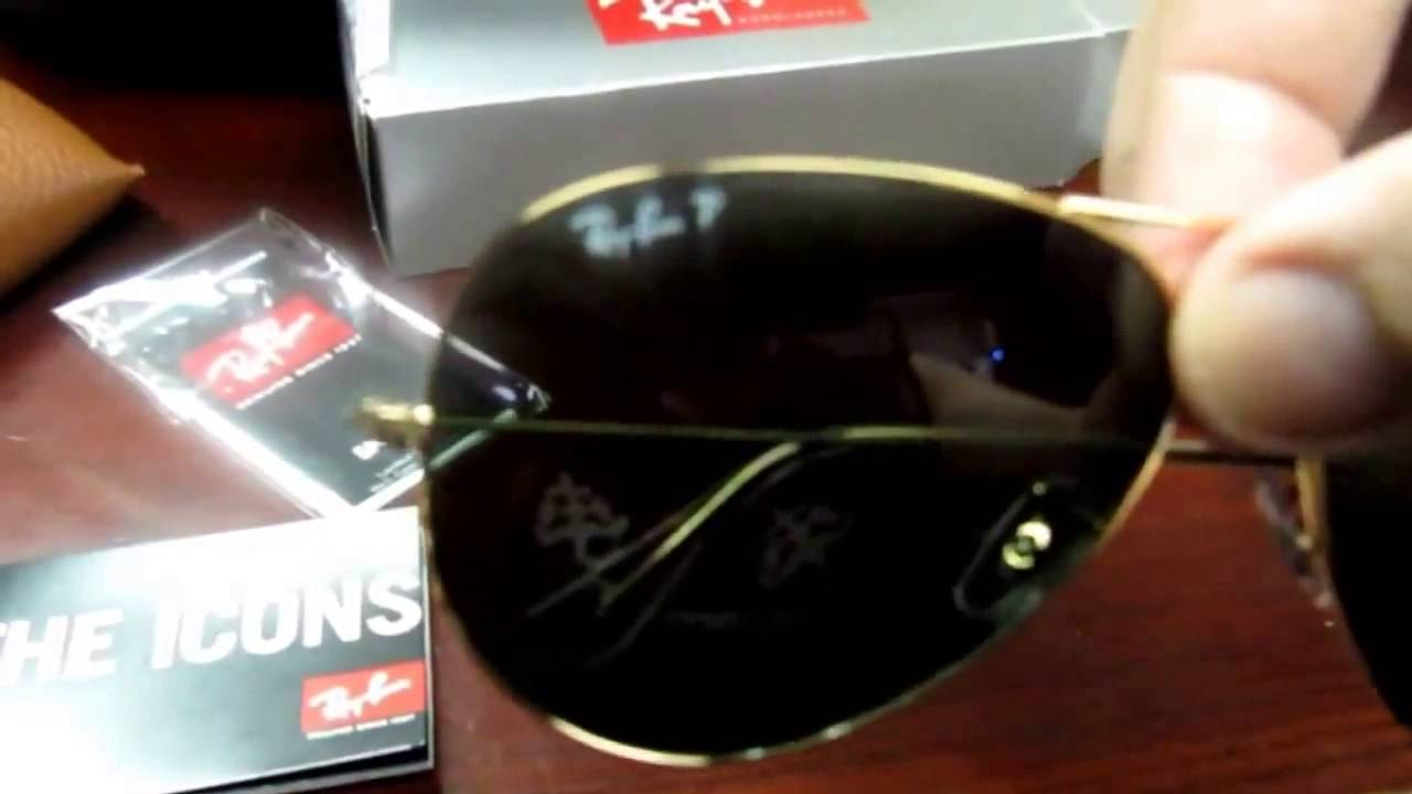 505450f6c74e41 rayban rb 3025 001 58 62mm polarized aviators arista green crystal large -  YouTube