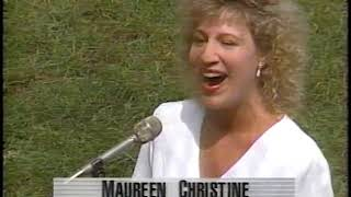 Maureen Christine sings The National Anthem Wrigley Field