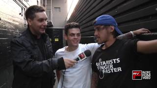 Daniel Sahyounie and Beau Brooks of Janoskians glad to be back on stage talks rumors