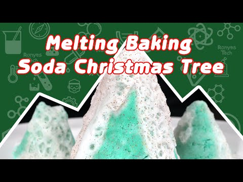 Melting Baking Soda Christmas Tree ACtivity for Kids
