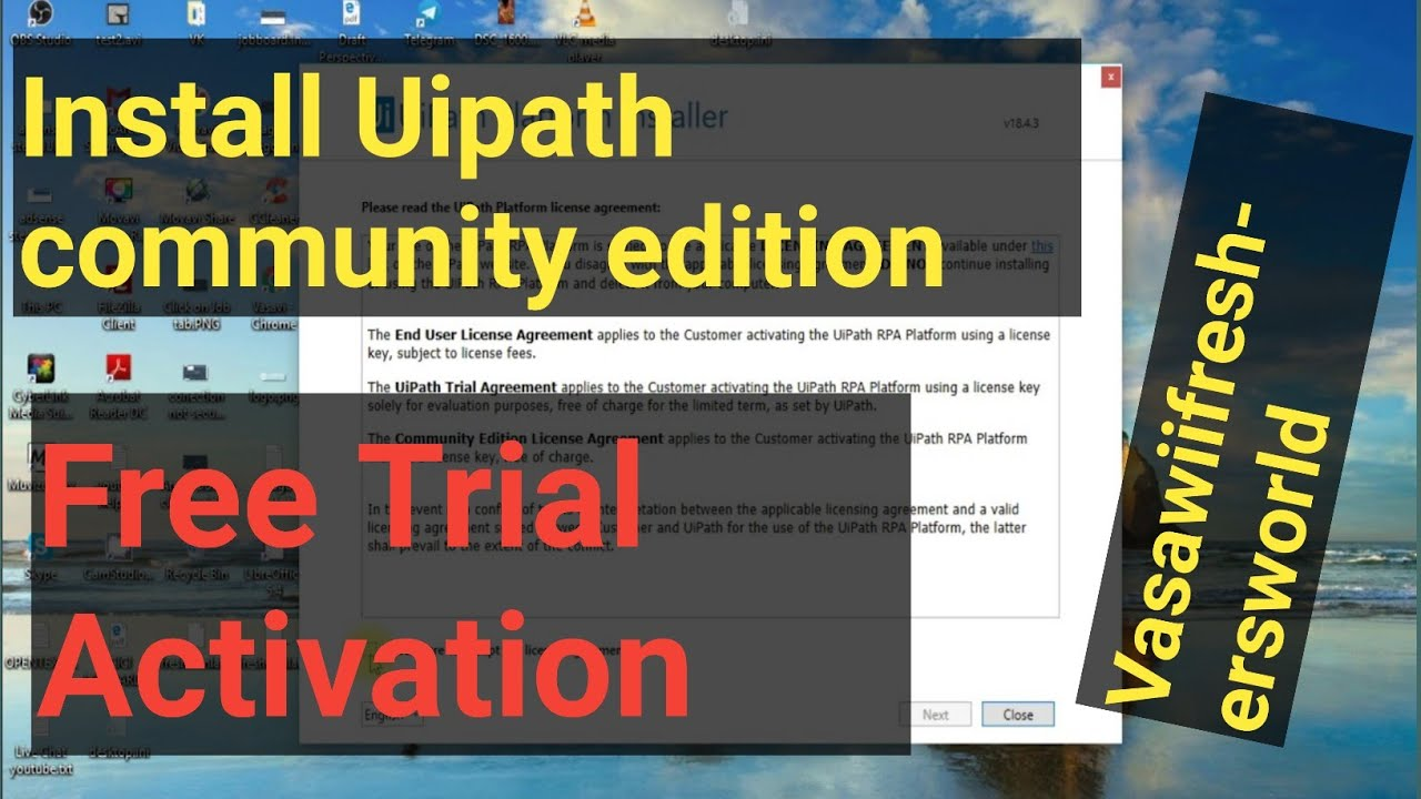 How to install UIPath Community Edition as enterprise  user||vasawiifreshersworld