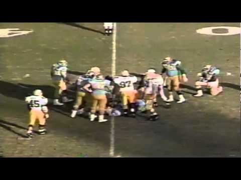 Oregon LB Terrell Edwards sacks UCLA QB Tommy Maddox 11-16-1991