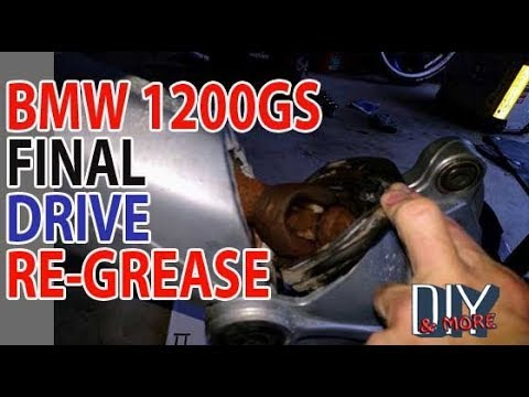 DIY RUST CORROSION 2016 BMW R1200GS LC FINAL DRIVE RE GREASE