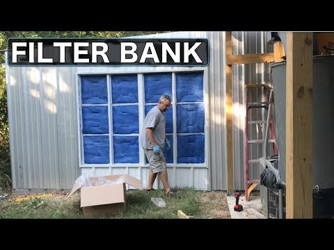 DIY Home Paint Booth Part 9 - Intake Filter Bank - DIY Home Paint Booth Part 9 - Intake Filter Bank - YouTube