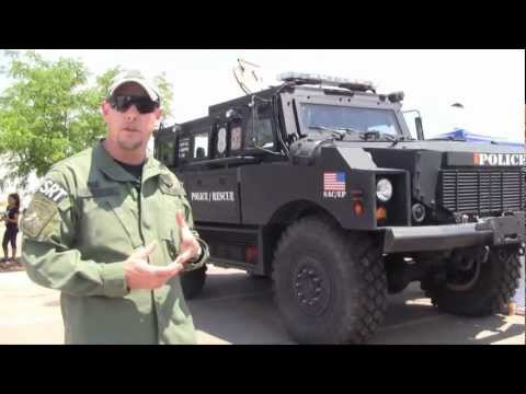 DHS-HSI Homeland Security Investigations El Paso SRT MRAP Armored Vehicle