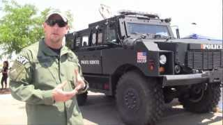 DHS-HSI Homeland Security Investigations El Paso SRT MRAP Armored Vehicle