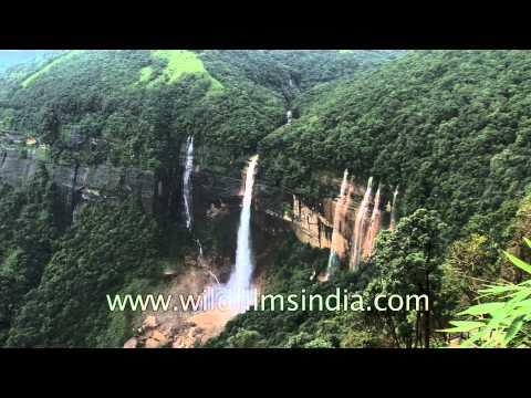 Nohkalikai Falls of Cherrapunji, Meghalaya