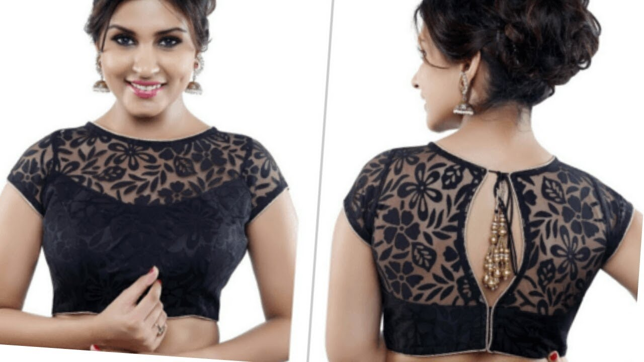 6be05a6b2a503 NEW BOAT NECK NET MODEL BLOUSE in hindi/wedding blouse