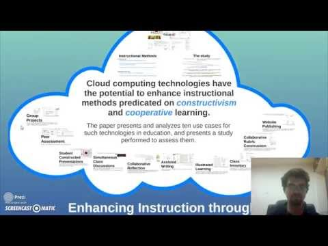 Constructivism, Cooperative Learning, and Cloud Computing - a Video Summary