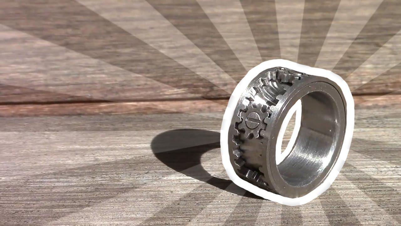 Fidget Gear Ring Kinekt Gear Ring YouTube